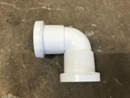 32mm Waste Pipe 90deg Elbow - White Push-fit