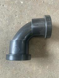 40mm Waste Pipe 90deg Swept Bend - Black Push-fit