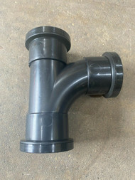 32mm Waste Pipe Tee Branch - Black Push-fit
