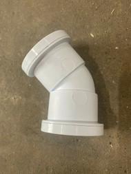 40mm Waste Pipe 45deg Bend - White Push-fit