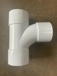 32mm Waste Pipe 90deg Tee Branch - White Solvent Weld