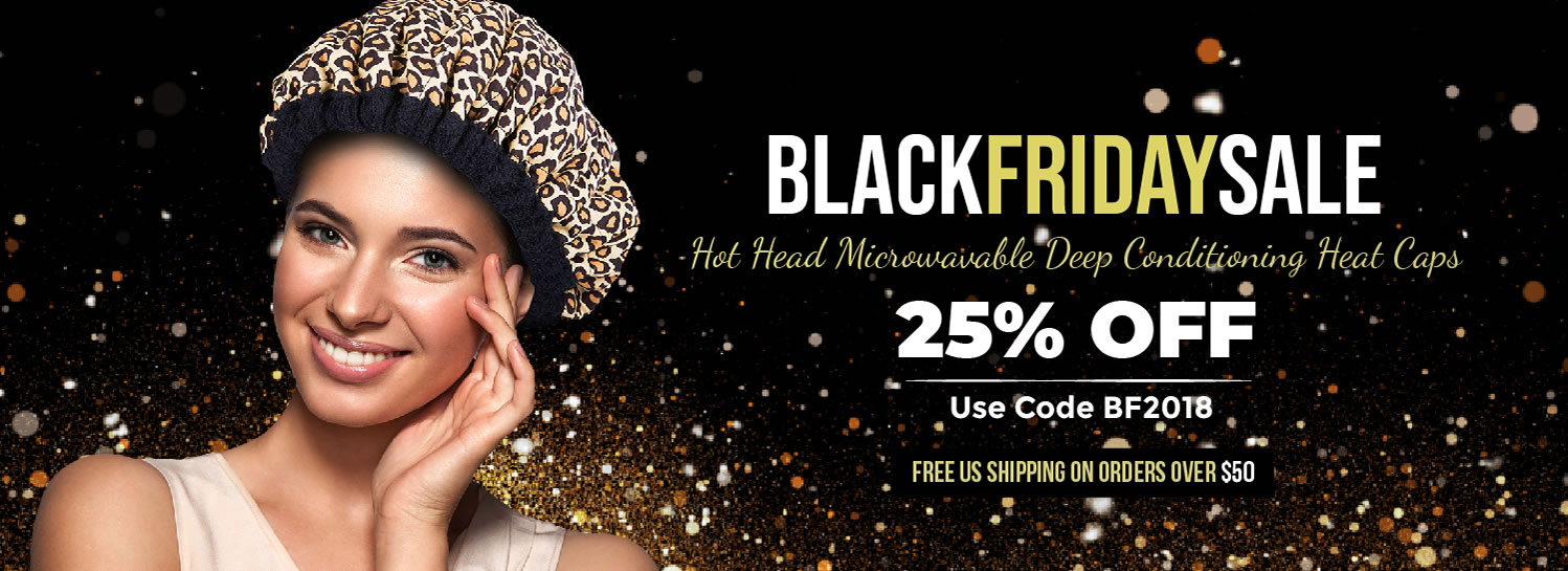 Black Friday Sale Hot Head Microwavable Deep Conditioning Heat Caps