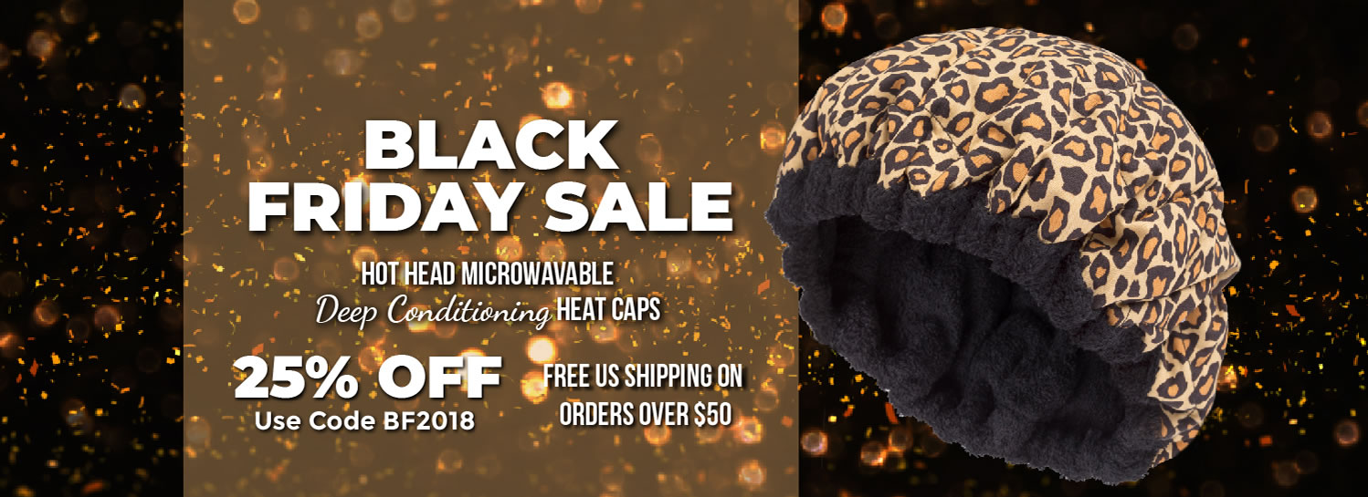 Hot Head Microwavable Deep Conditioning Heat Caps Black Friday Sale