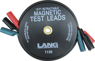 SKU : 1135  -  Magnetic Retractable Test Leads- 3 Leads x 10-ft.