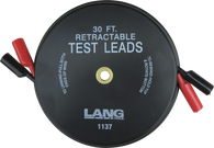 SKU : 1137  -  Retractable Test Leads - 2 Leads x 30-ft.