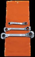 SKU : ROW-3  -  3-PC. SAE Offset Wrench Set - Vinyl Pouch
