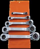 SKU : ROW-5  -  5-PC. SAE Offset Wrench Set - Vinyl Pouch