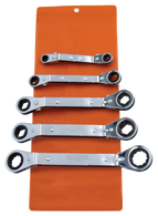 SKU : ROWM-5  -  5 PC. Metric Offset Wrench Set - Vinyl Pouch