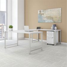 BBF Bush 400 Series Office Furniture - White Finish