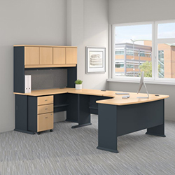 Bush Business Furniture Series A - Beech