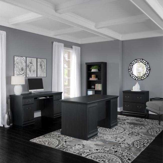 Bush Furniture Birmingham Collection - Antique Black