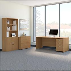 Bush Business Furniture Series C - Light Oak