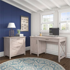 Bush Furniture Key West Collection - Washed Gray