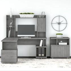 Kathy Ireland by Bush Furniture Madison Avenue Collection – Modern Gray