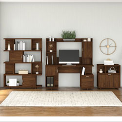 Kathy Ireland by Bush Furniture Madison Avenue Collection – Modern Walnut