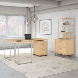 Bush Business Furniture Method Collection – Natural Maple