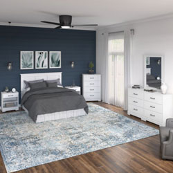 Bush Riverbrook Bedroom Collection – White Suede Oak
