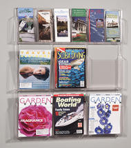 Safco Deluxe Clear Display - 6 Pamphlet, 6 Magazine Pockets - 5606CL