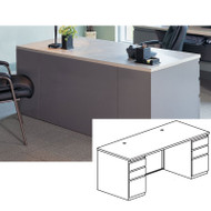 Mayline CSII Rectangular Desk with 2 Pedestals 30D x 72W (B/B/F) - C1372