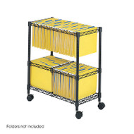 Safco 2-Tier Rolling File Cart - 5278BL