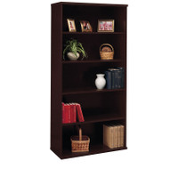 Bush Business Furniture Series C Bookcase 5-Shelf Open Double in Mocha Cherry - WC12914