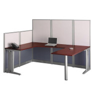 Bush Furniture Office-in-an-Hour U-Shaped Workstation - WC36496-03K