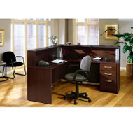 Bush Business Furniture Series C Package L-Shaped Reception Desk Mocha Cherry - MOCPackageA