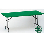 Correll R-Series Heavy Duty Blow-Molded Plastic Folding Table Colored 30 x 72  - R3072C