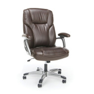 MONTHY SPECIAL! OFM Essentials by OFM High Back Leather Task Chair, Brown - ESS-6030-BRN
