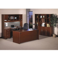 Bush Business Furniture Series C Package Executive Straight Desk Mahogany - MAHPackageE