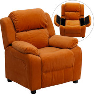 Flash Furniture Kid's Recliner with Storage Orange Microfiber - BT-7985-KID-MIC-ORG-GG