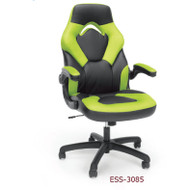 OFM Essentials by OFM Racing Style Leather Gaming Chair Green - ESS-3085