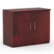 Mayline Medina Laminate Storage Cabinet Mahogany - MSC-LMH