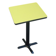 "Correll Bar and Cafe Breakroom Table - Bar Stool Height - Square 42"" - BXB42S"