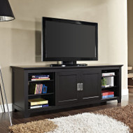 "Walker Edison Fullview 70"" TV Console, Matte Black -W70C25SDBL"