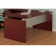 "Mayline Medina Laminate Executive Desk Straight 72"" Mahogany - MNDS72-LMH"