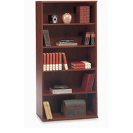 "Bush Business Furniture Series C Bookcase 5-Shelf Open Double in Hansen Cherry 36"" - WC24414"