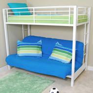 Walker Edison Sunset Twin Futon Bunk Bed White - BTOFWH