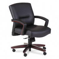 HON 5000 Series Park Avenue Collection Executive Mid Back Vinyl Chair - Mahogany - 5002NEE11