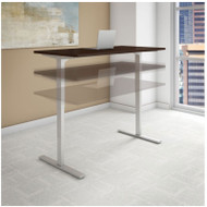 "Bush Business Furniture Series C 400 Height Adjustable Table Desk 72"" x 24"" Mocha Cherry - HAT7224MRK"