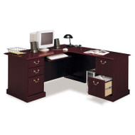 MONTHLY SPECIAL Bush Saratoga Collection L Shaped Executive Desk - EX45670-03K