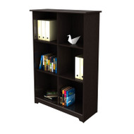Bush Cabot Collection Bookcase 6-Cube Espresso Oak finish - WC31865-03