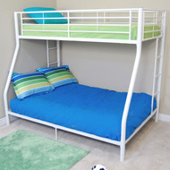 Walker Edison Sunrise Twin / Double Bunk Bed White - BTODWH