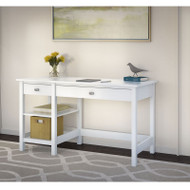 Bush Broadview Collection Open Storage Desk - BDD154WH-03