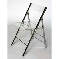 Wholesale Interiors Set of Two Macbeth Acrylic Foldable Accent Chair - FAY-506