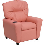 Flash Furniture Contemporary Kid's Recliner with Cup Holder Pink Vinyl  - BT-7950-KID-PINK-GG