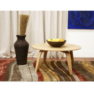 Wholesale Interiors Harper Mid-Century Natural Modern Molded Plywood Coffee Table - 4030-Natural