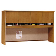"Bush Business Furniture Series C Desk Hutch 4-Door 72"" Natural Cherry - WC72477K"