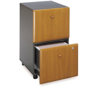 Bush Business Furniture Series A Mobile File Cabinet 2-Drawer Natural Cherry Assembled - WC57452PSU