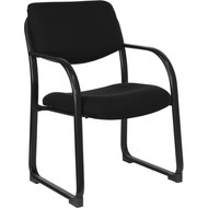 Flash Furniture Black  Fabric Executive Side Chair with Sled Base - BT-508-BK-GG